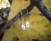 Tiny Silver Heart Drop Earrings