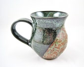 Ready to ship pottery mug, ceramic coffee mug, handmade stoneware mug, large mug 18 oz. - in stock