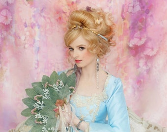 Light Blue & Champagne Marie Antoinette Upscale Halloween Costume Size XSmall