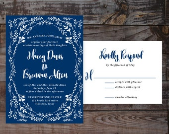 vintage wedding invitations, calligraphy wedding invitations, printable wedding invitations, wedding invitation templates, black and white