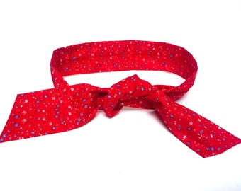 Dog Cooling Bandana for humans and dogs in Red Floral, cooling collar, cold bandana