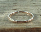 Pink Gold Hammered Toe Ring - Stacking Toe Ring, Pink Gold Toe Ring, Rose Gold Toe Ring, Adjustable Toe Ring, Hammered Toe Ring, Midi Ring