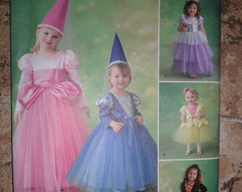 Simplicity Pattern 2569 Fairy, Princess Costumes - UNCUT pattern 1/2 thru 3