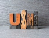 Fancy U and ME - Vintage Letterpress Phrase