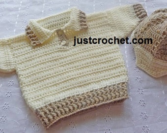 Sweater and peaked helmet Baby Crochet Pattern (DOWNLOAD) 98