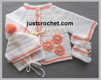 Coat, Boots and Hat Baby Crochet Pattern (DOWNLOAD) 133