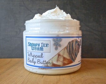 Snowy Ice Cream Whipped Body Butter - Limited Edition Winter Holidays Scent