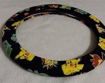 Pokemon  * Steering Wheel Cover Seat Belt * Pokemon Go! * Charmander * Meowth * Squirtle * Bulbasauer * Ivysauer *  Pikachu