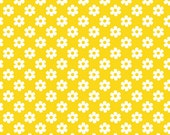 1 yard Yellow daisies knit Excellent quality