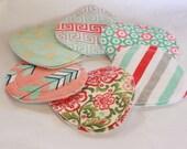 6 pairs flower petal nursing pads, regular flow