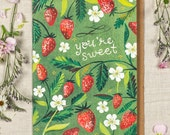 You're Sweet - Greeting Card - Katie Daisy