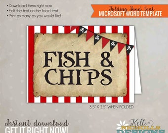 Pirate Party Food Tent, Pirate Birthday Decoration, Printable Template, Instant Download #B128
