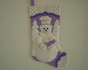 Bucilla-Snowflake Snowman Stocking