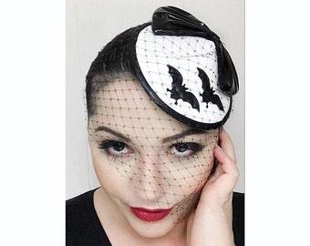 PVC Bat Hat - White