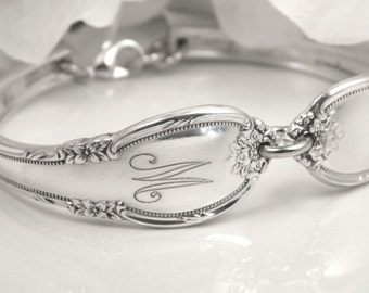Spoon Bracelet, Spoon Jewelry, Bridesmaid Bracelet, Silverware Bracelet, Personalized Free