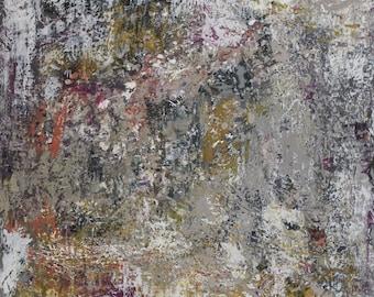 "Live Stone - original encaustic painting - 24""x24"" - FREE SHIPPING"