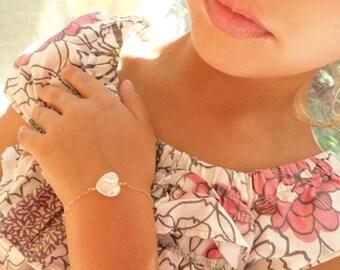 2-DAY 20% OFF SALE Flower girl gift idea, childrens jewelry, childs bracelet, small pearl bracelet for child, adjustable kids bracelet for l