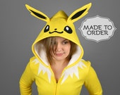 Jolteon Pokemon Costume Hoodie - Made to Order