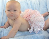 Sassy Pants Ruffle Diaper Cover Panty  Dainty Rosebuds Pink & White
