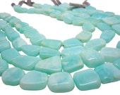 Blue Peruvian Opal Beads Oval, Luxe AAA, Smooth Nuggets, Peruvian Opal Beads, SKU 4436A