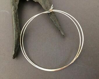 """3"""" Gold Hoop Earrings, Hoop, Hammered Gold Filled Hoop Earrings, Gold Hoops, 14KT Gold Filled Hoop Earrings"""