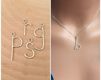 Initial letter necklace, personalized necklace, sterling silver necklace, silver necklace, sterling initial necklace
