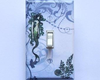 MATCHING SCREWS on 4 CHOICES- Mermaid switchplates mermaid switch cover vintage mermaid bathroom mermaid decoration mermaid light switch