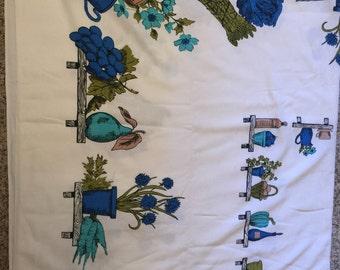 Vintage print tablecloth