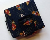bibi bifold pocket wallet - with long pocket for money- magnetic snap closure
