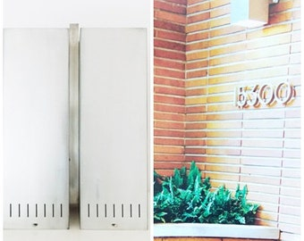Huge Mid Century Aluminum wall Light/ modernist double wall Lamp / Metal Wall Mount Sconce Lamp