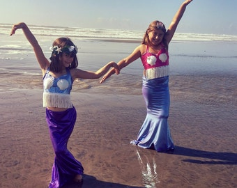 Kids Mermaid Costume swimmable and walkable