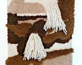 Vintage Wall Tapestry | Latch Hook | Macrame