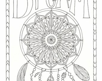 Dream - Coloring Page - PDF - Instant Download