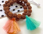 LITTLE gurus rudraksha seed mala bracelet for kids