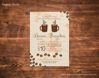 CUSTOM PRINTABLE Invitation: Perfect Blend Coffee Shower Invitation (Customizable)
