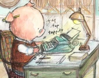 Hamilton the Writer...write, write, re-write... (FULL IMAGE)
