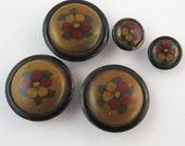 pansy vintage button set