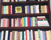 "4 shelf Bookcase quilt, library quilt, book lovers quilt, wall hanging, lap quilt, 40""x42.5"