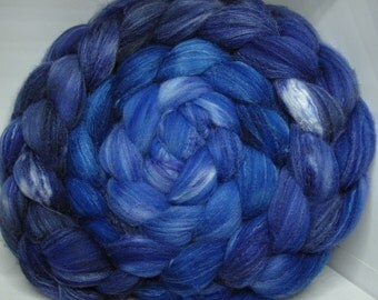 Organic Polwarth/Bombyx 80/20 Roving Combed Top 5oz - Mystic 1