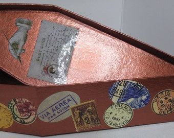 Trinket Box - Goth Coffin - Copper Traveler
