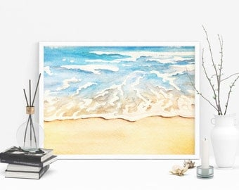 11x14 Wall Gallery Art Watercolor Painting - Digital Download