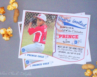 Baseball Invitation - Baseball Invites - Baseball Birthday Invitation - Sports Birthday - Baseball Birthday Party - Baseball Invitations