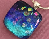 Tidal Pool - Dichroic Glass Pendant Necklace