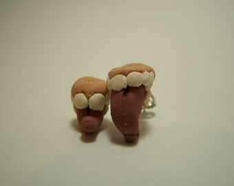 monster mouth earrings