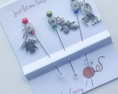 Decorative Pins - Gift for Knitter - Pincushion Pins - Knitting Stick Pins - Knit Themed Pins - Mother's Day Gift - Lapel Pins
