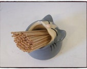 Grey Cat Toothpick Holder  by misunrie