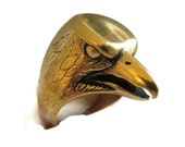 Brass American Eagle Ring – Vintage Size 7.25