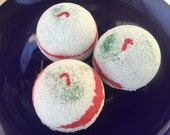 Custom order for swallace - 24 Holly Berry Bath Bombs- Half Bombs