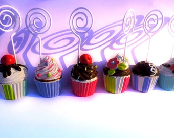 Adorable CUPCAKE Sprinkles PARTY Hostess CAKE Place Card Holders 1