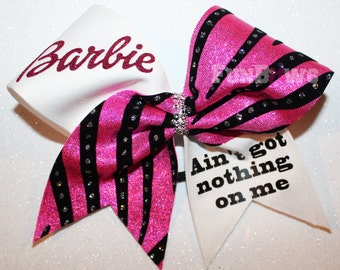 Barbie Ain't Got Nothing On Me  -  Cheer Allstar Bow by FunBows !